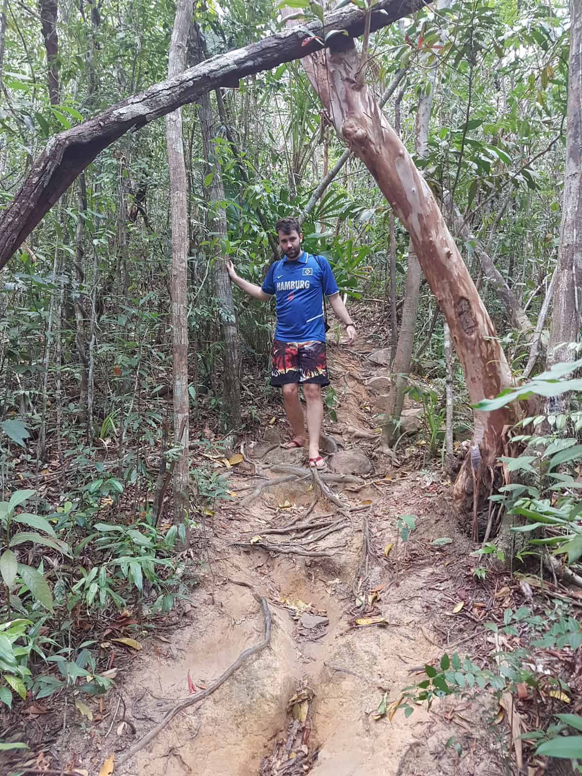 A hike through Koh Rong Sanloem's Jungle.