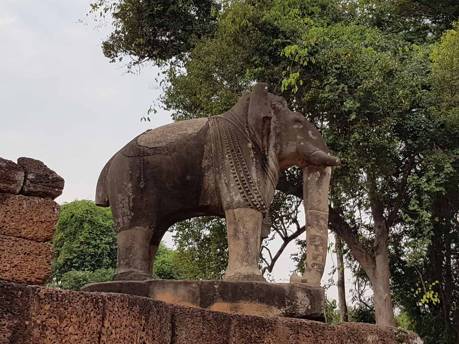 Elephant Sculpture at East Mebon.