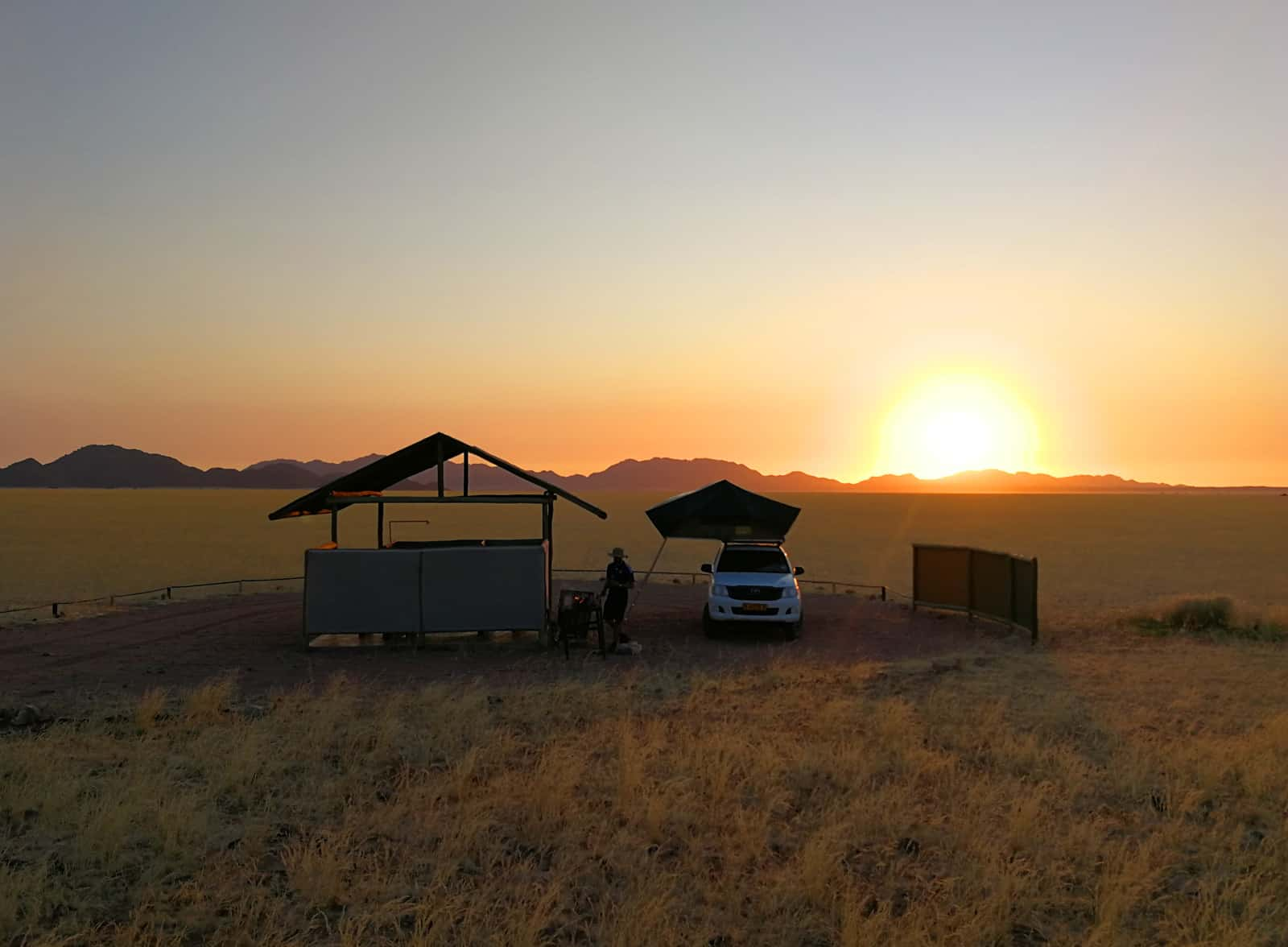 Namibia - Sunset at Kanaan Desert Retreat