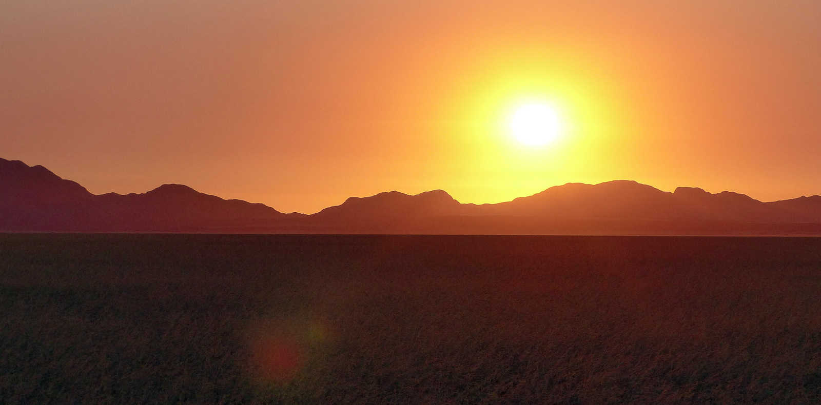 Sunset in the Tiras Mountains, Namibia